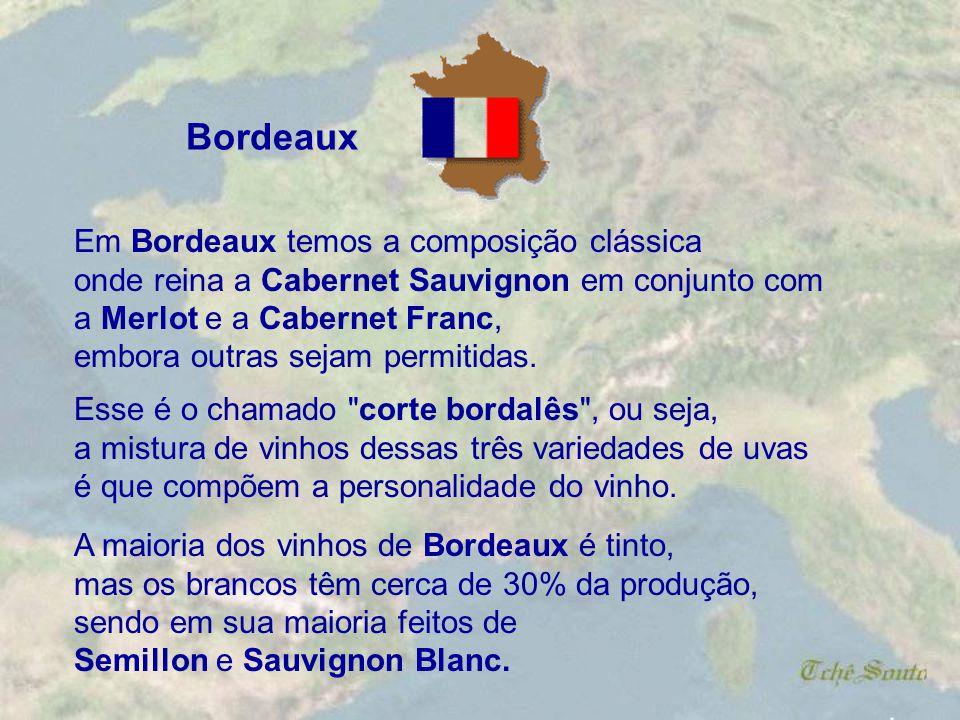 . São várias as regiões produtoras de vinho na França, sendo as mais conhecidas as de Bordeaux, Bourgogne (Borgonha), Champagne, Alsace e Loire. Dentr