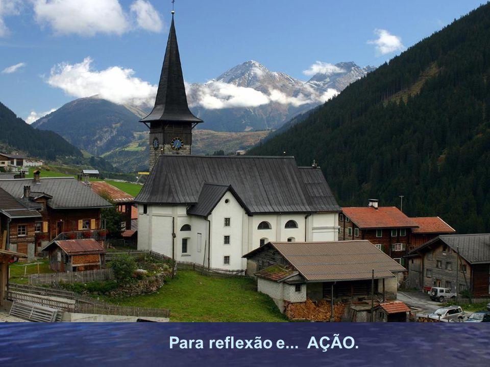 Admire as belezas naturais da Suíça e leia com atenção o texto