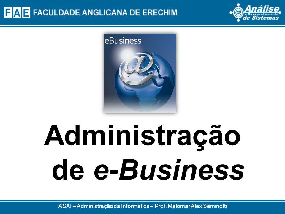 ASAI – Administração da Informática – Prof. Malomar Alex Seminotti Administração de e-Business