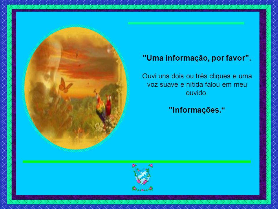 Slide feito por luannarj@uol.com.brluannarj@uol.com.br Como num milagre, eu ouvi a mesma voz doce e clara que conhecia tão bem, dizendo: Informações. Eu não tinha planejado isso, mas me peguei perguntando: Você sabe como se escreve exceção ? Houve uma longa pausa.