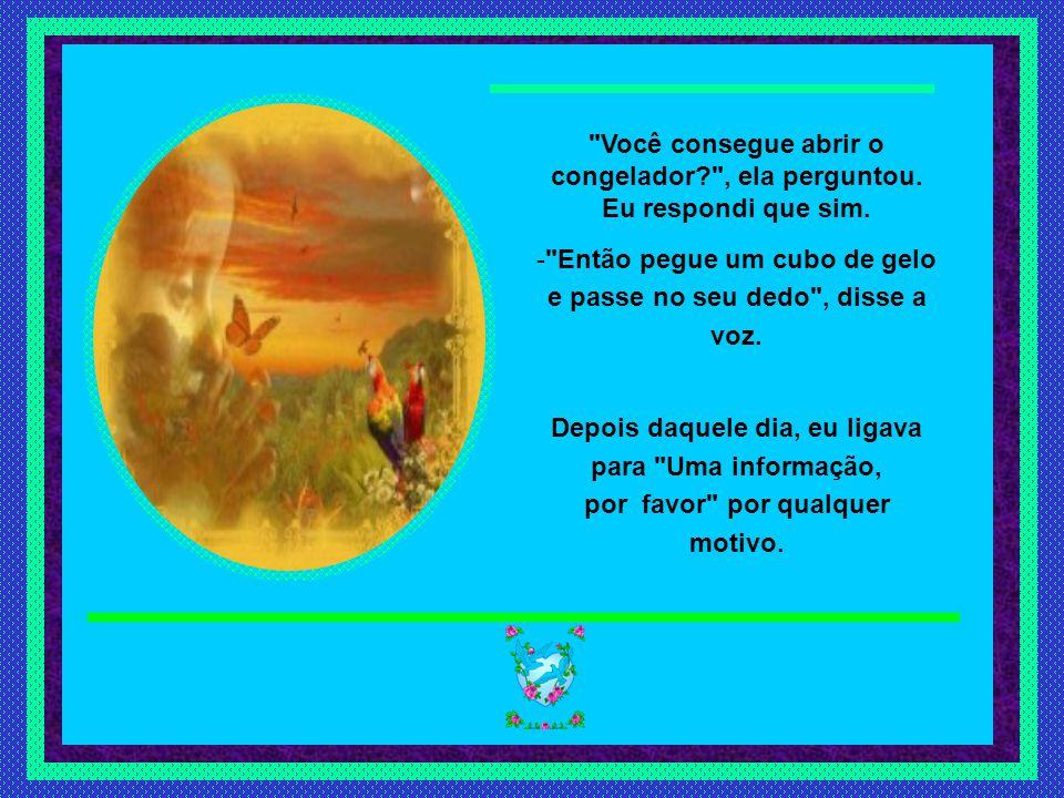 Slide feito por luannarj@uol.com.brluannarj@uol.com.br Você consegue abrir o congelador? , ela perguntou.