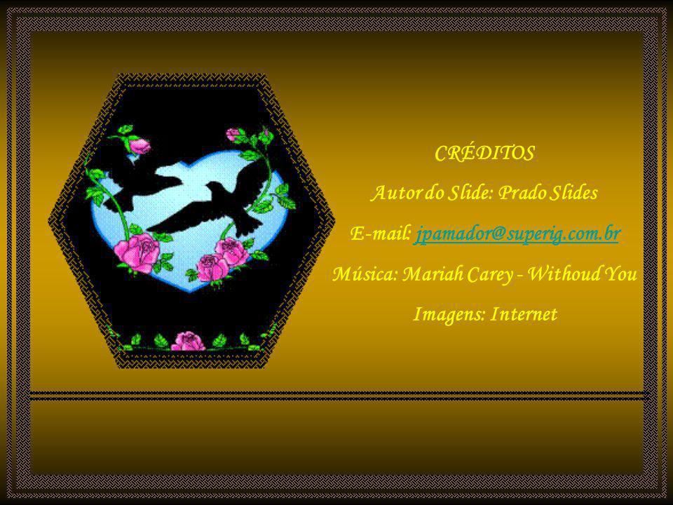CRÉDITOS Autor do Slide: Prado Slides E-mail: jpamador@superig.com.br Música: Mariah Carey - Withoud You Imagens: Internet