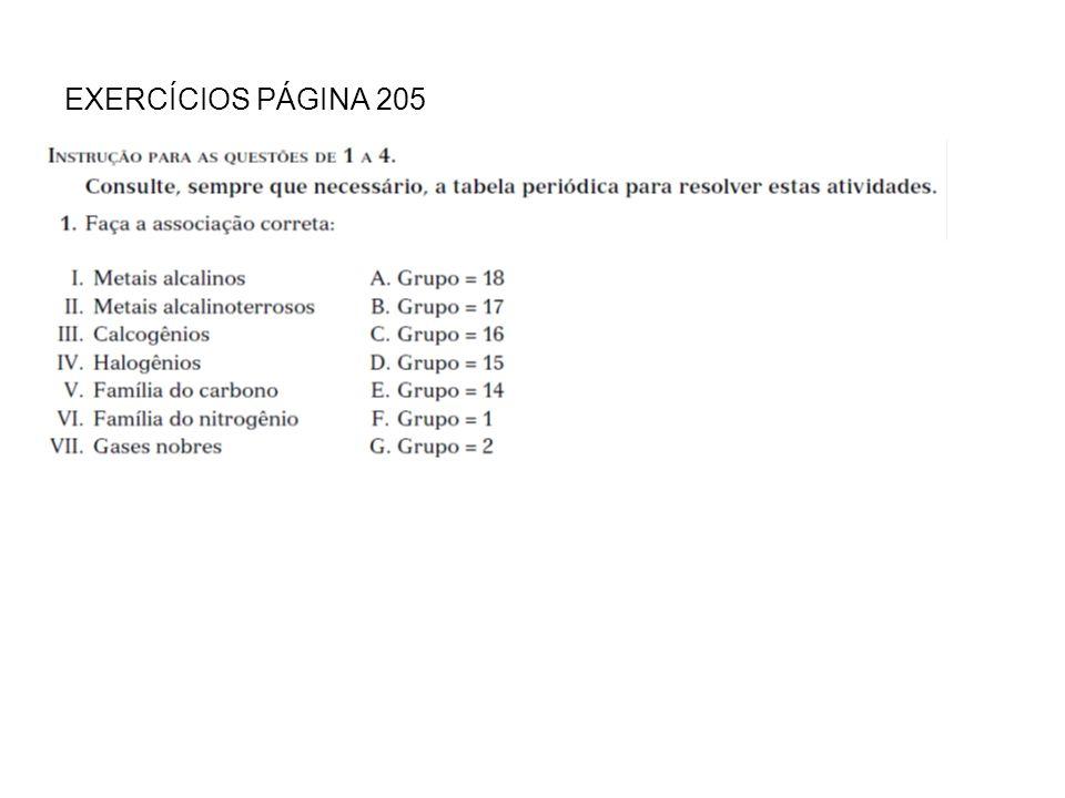 EXERCÍCIOS PÁGINA 205