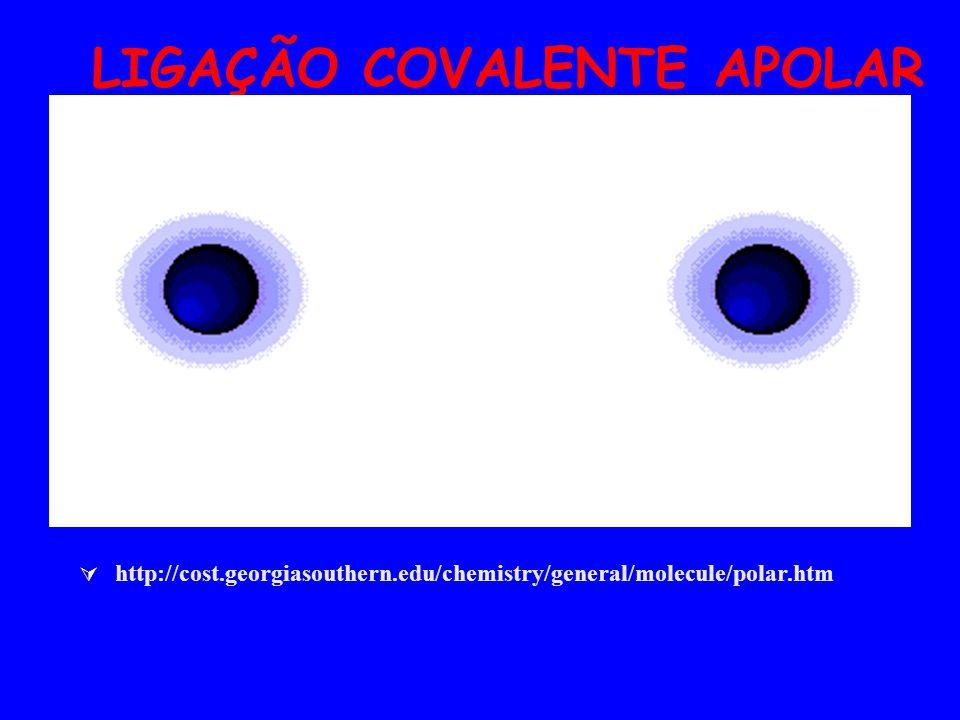 LIGAÇÃO COVALENTE APOLAR http://cost.georgiasouthern.edu/chemistry/general/molecule/polar.htm