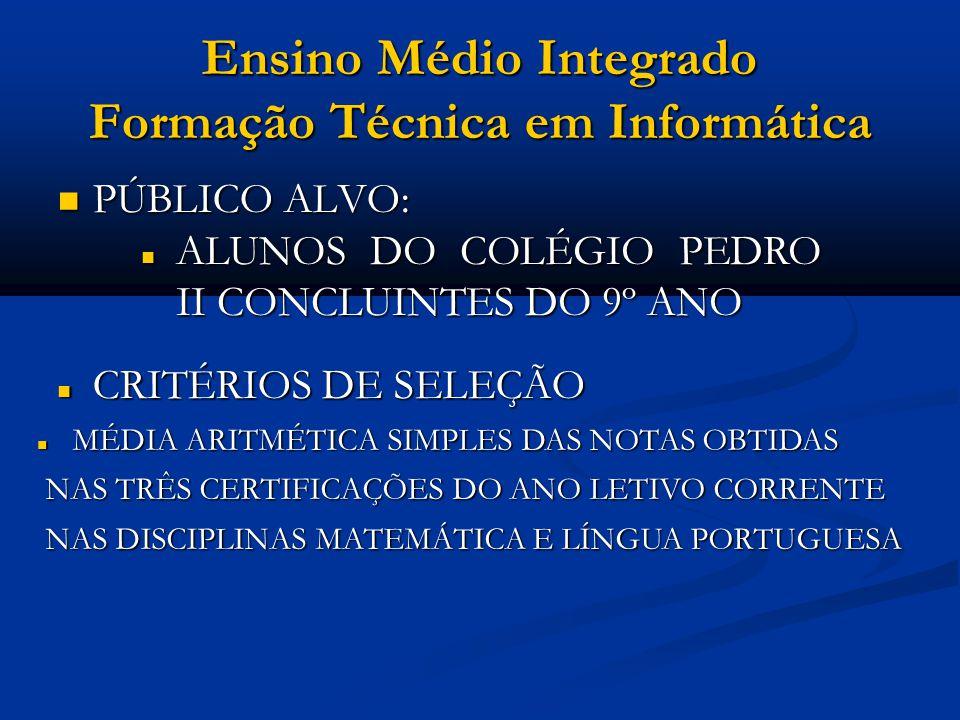 Ensino Médio Integrado Técnico em Instrumento Musical OBJETIVOS: OBJETIVOS: HABILITAR O ALUNO A ATUAR COMO MÚSICO PROFISSIONAL EM DIFERENTES CONJUNTOS MUSICAIS ( BANDAS MILITARES E CONJUNTOS INSTRUMENTAIS DIVERSOS, ORQUESTRAS ETC.) E COMO MÚSICO INDIVIDUAL HABILITAR O ALUNO A ATUAR COMO MÚSICO PROFISSIONAL EM DIFERENTES CONJUNTOS MUSICAIS ( BANDAS MILITARES E CONJUNTOS INSTRUMENTAIS DIVERSOS, ORQUESTRAS ETC.) E COMO MÚSICO INDIVIDUAL