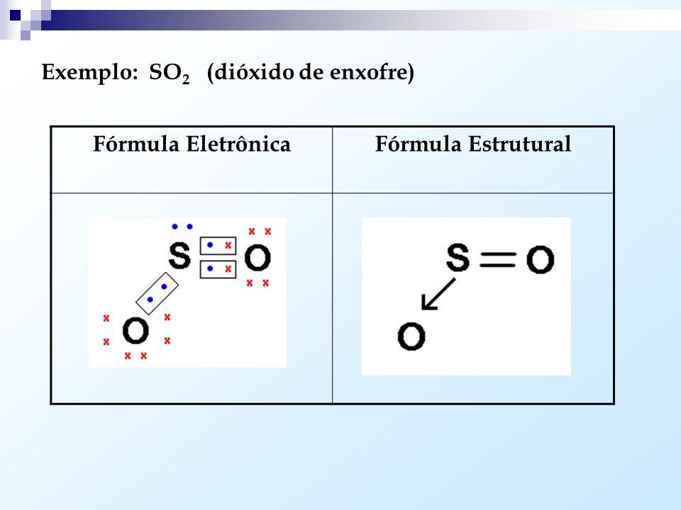 Ligação Covalente Dativa ou Coordenada: Ocorre quando um dos átomos envolvidos já adquiriu o octeto e dispõe de par eletrônico livre. Este par pode se
