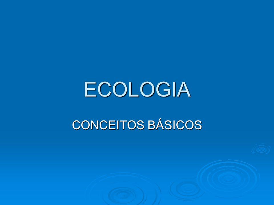 A palavra ecologia deriva de duas palavras gregas: oikós (= casa) e logos (= estudo).