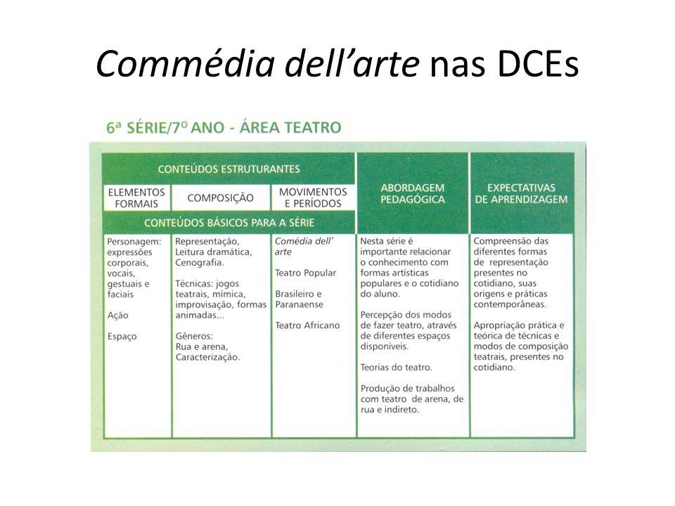 Commédia dellarte nas DCEs