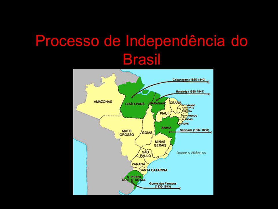 1808: Chegada da Família real portuguesa ao Brasil; Abertura dos portos às nações amigas; Imprensa régia; Início, tímido, de industrialização; Fim do monopólio comercial lusitano; Melhorias urbanas no Rio de Janeiro.