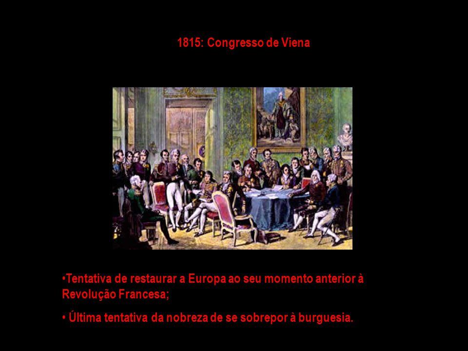 1815: Reino Unido de Portugal, Brasil e Algarves; Na prática significava que o Brasil não estava mais subordinado à Metrópole, e o Rio de Janeiro era a capital do Império português, não mais Lisboa.