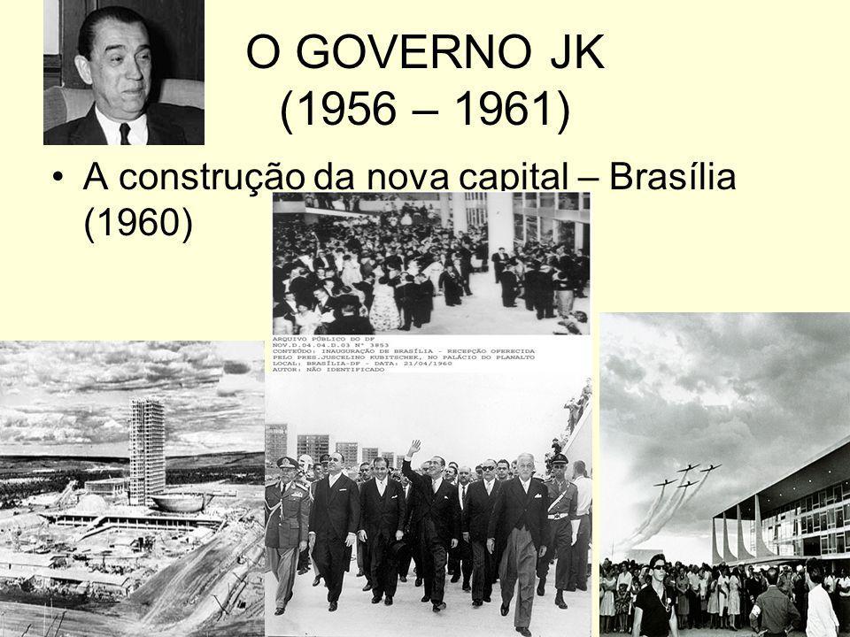 O GOVERNO JK (1956 – 1961) A construção da nova capital – Brasília (1960)