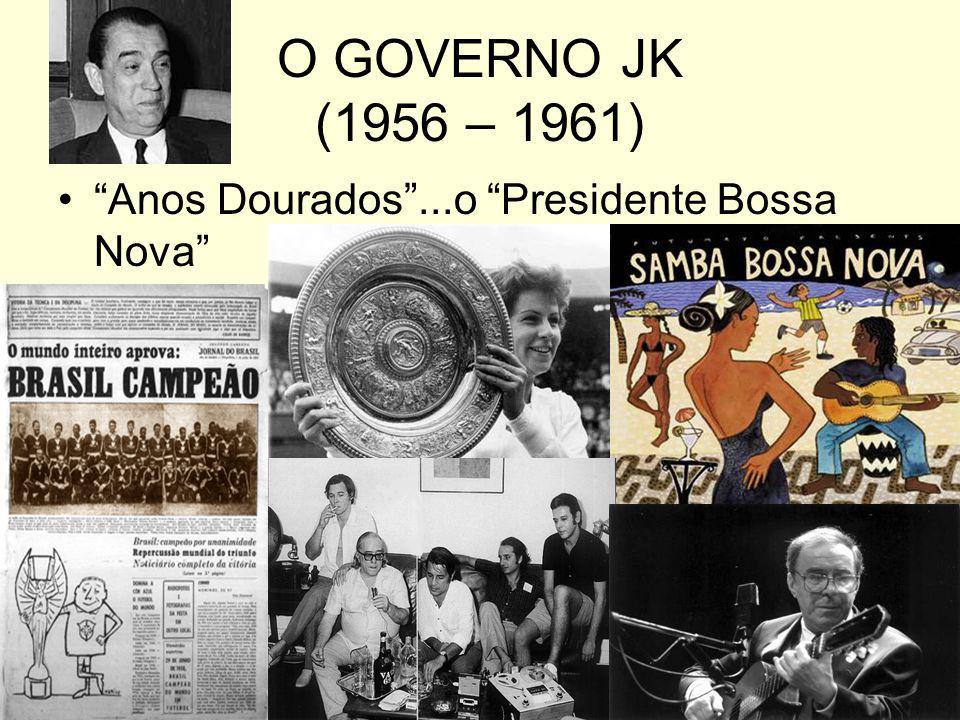 O GOVERNO JK (1956 – 1961) Anos Dourados...o Presidente Bossa Nova