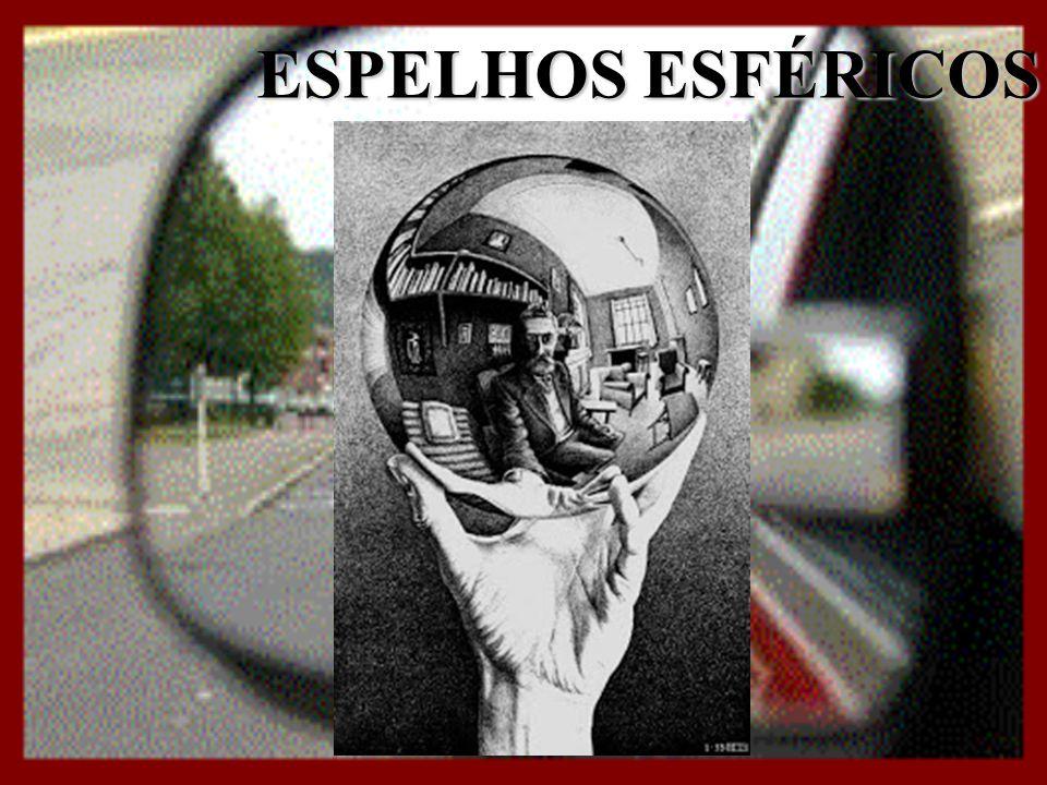 ESPELHOS ESFÉRICOS PROPRIEDADES DOS RAIOS DE LUZ EPVFC TODO RAIO DE LUZ QUE INCIDE PARALELAMENTE AO EIXO ÓPTICO, REFLETE NUMA DIREÇÃO QUE PASSA PELO FOCO