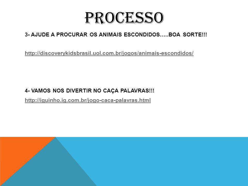 PROCESSO 3- AJUDE A PROCURAR OS ANIMAIS ESCONDIDOS…..BOA SORTE!!.