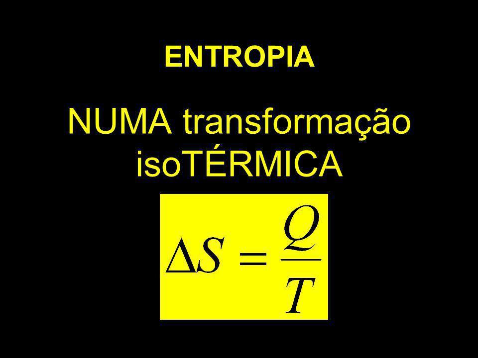 ENTROPIA NUMA transformação isoTÉRMICA