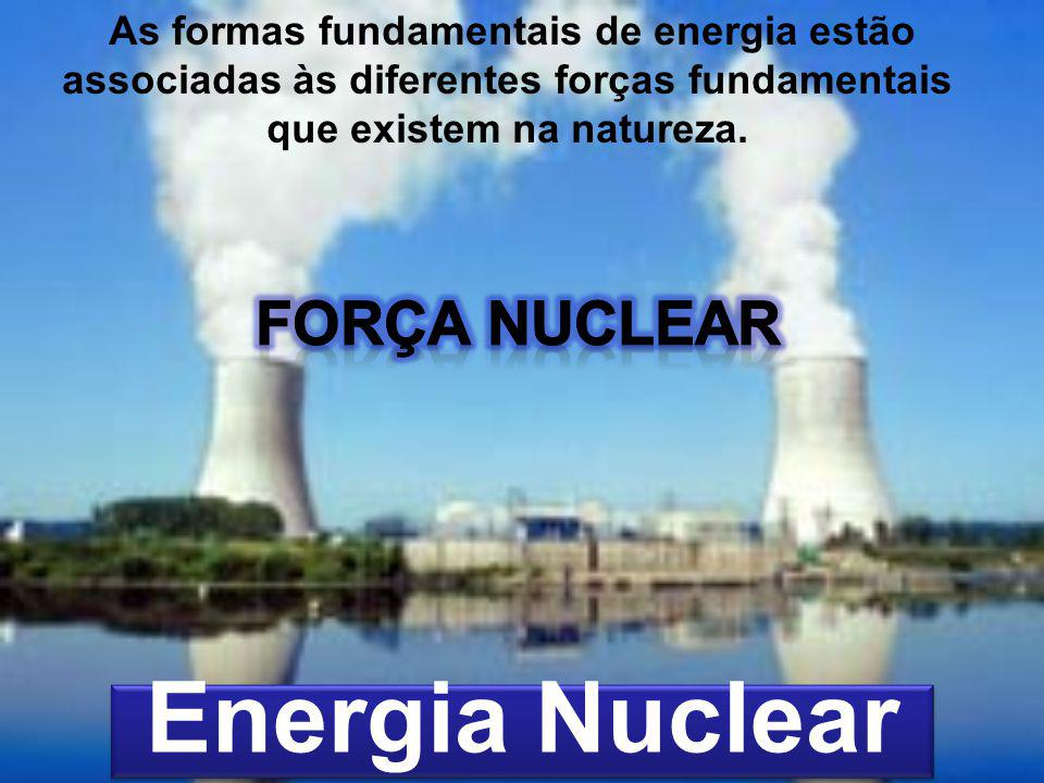Energia Nuclear As formas fundamentais de energia estão associadas às diferentes forças fundamentais que existem na natureza.