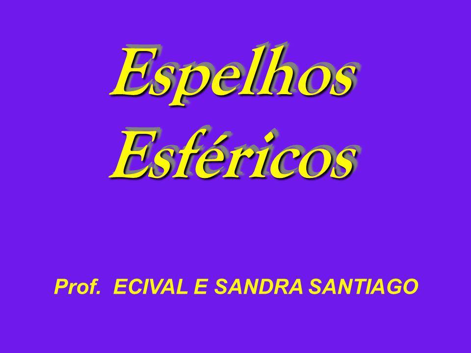 Espelhos Esféricos Prof. ECIVAL E SANDRA SANTIAGO