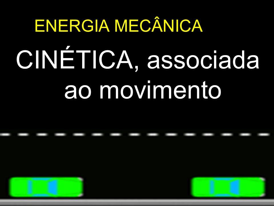 ENERGIA MECÂNICA CINÉTICA, associada ao movimento