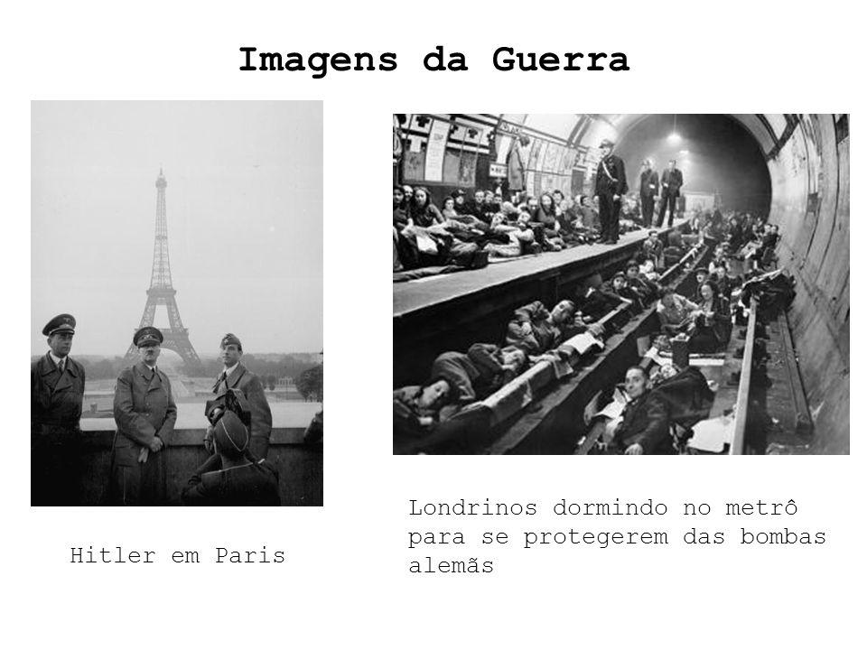 Imagens da Guerra Hitler em Paris Londrinos dormindo no metrô para se protegerem das bombas alemãs