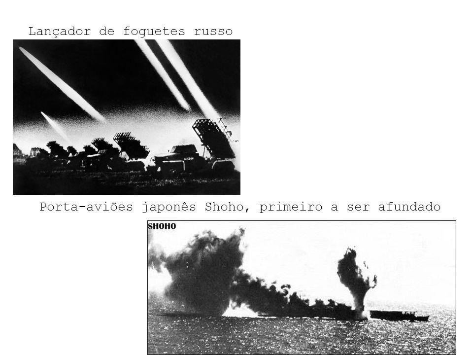 Lançador de foguetes russo Porta-aviões japonês Shoho, primeiro a ser afundado