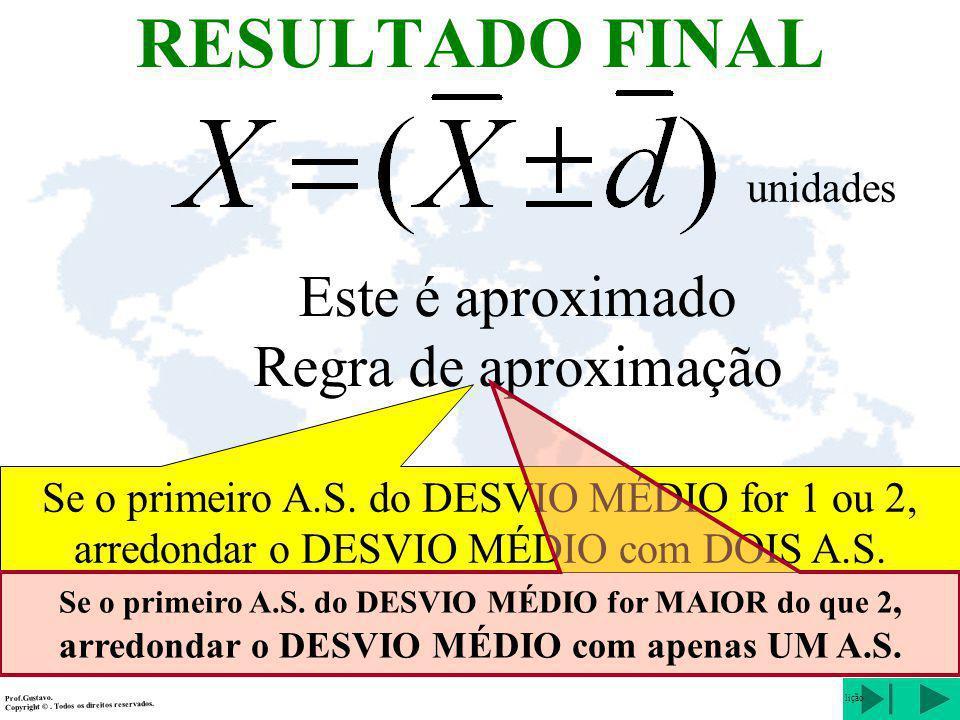 RESULTADO FINAL unidades Prof.Gustavo.Copyright ©. Todos os direitos reservados. lição Este é aproximado Regra de aproximação Se o primeiro A.S. do DE