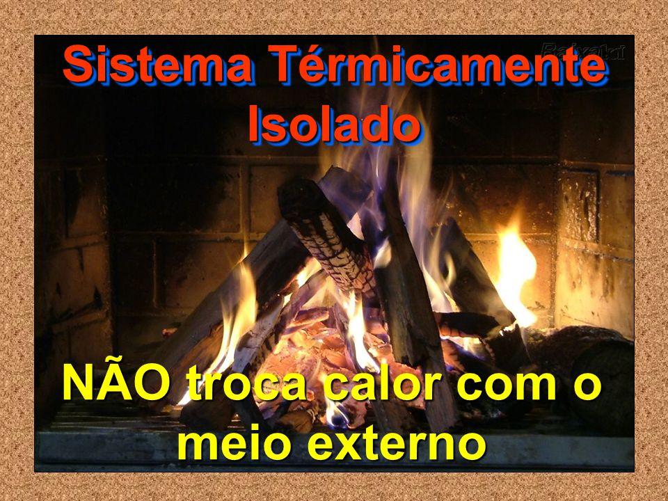 NÃO troca calor com o meio externo Sistema Térmicamente Isolado
