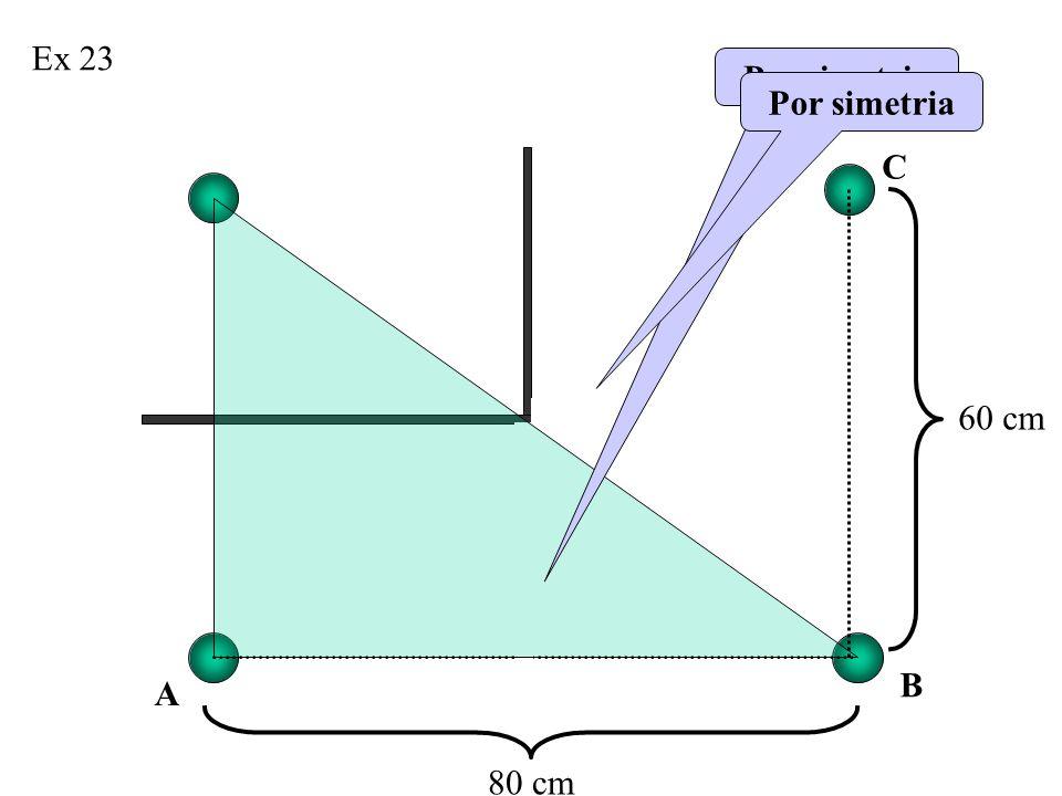 Ex 23 80 cm 60 cm Por simetria B A C