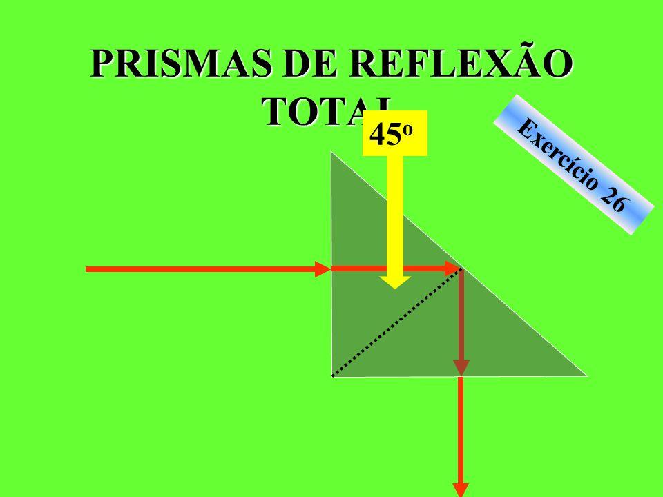 PRISMAS DE REFLEXÃO TOTAL Exercício 26 45 o