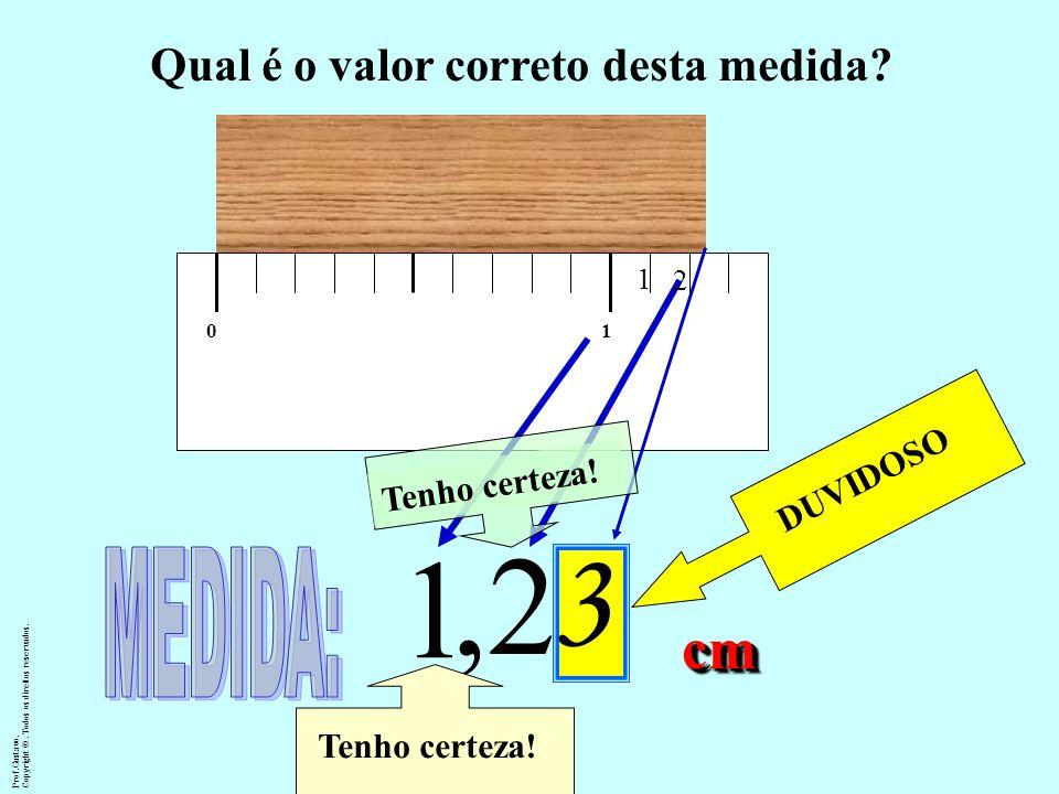 ALGARISMOS SIGNIFICATIVOS DUVIDOSO 01 1,2 3 Tenho certeza! cmcm Prof.Gustavo.Copyright ©. Todos os direitos reservados. Qual é o valor correto desta m