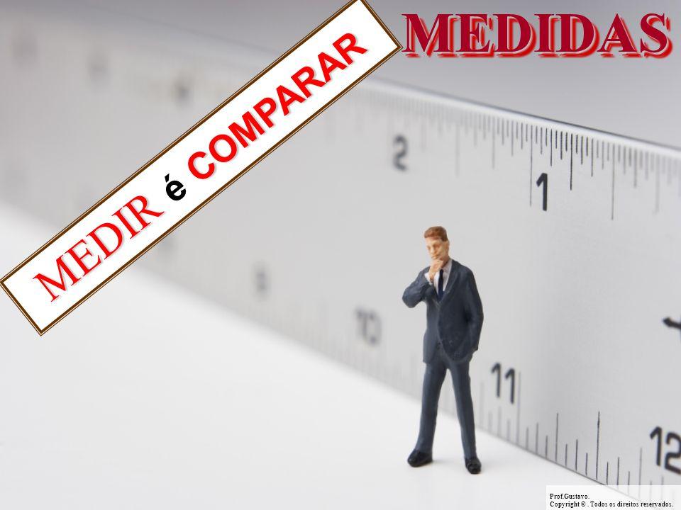 MEDIDASMEDIDAS Prof.Gustavo.Copyright ©. Todos os direitos reservados. MEDIR COMPARAR MEDIR é COMPARAR