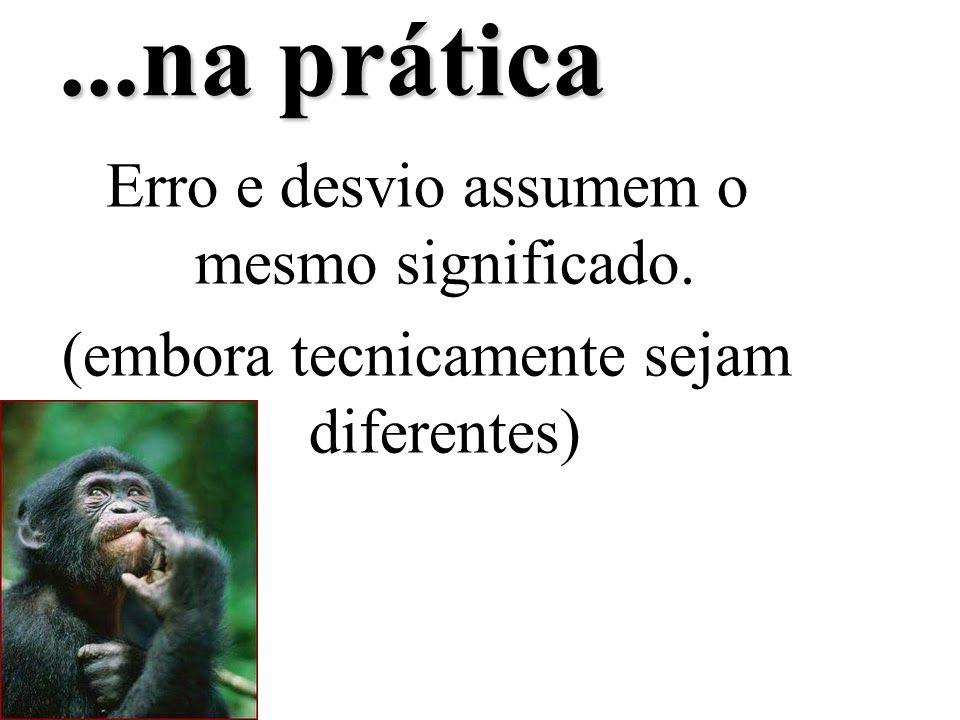...na prática Erro e desvio assumem o mesmo significado. (embora tecnicamente sejam diferentes)