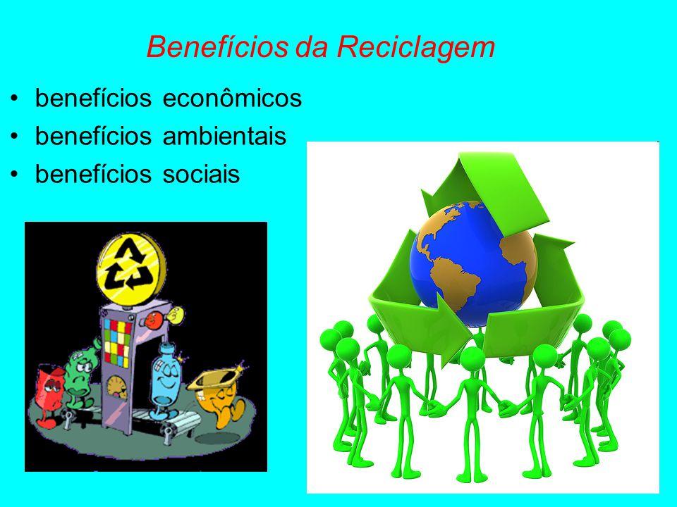 Benefícios da Reciclagem benefícios econômicos benefícios ambientais benefícios sociais