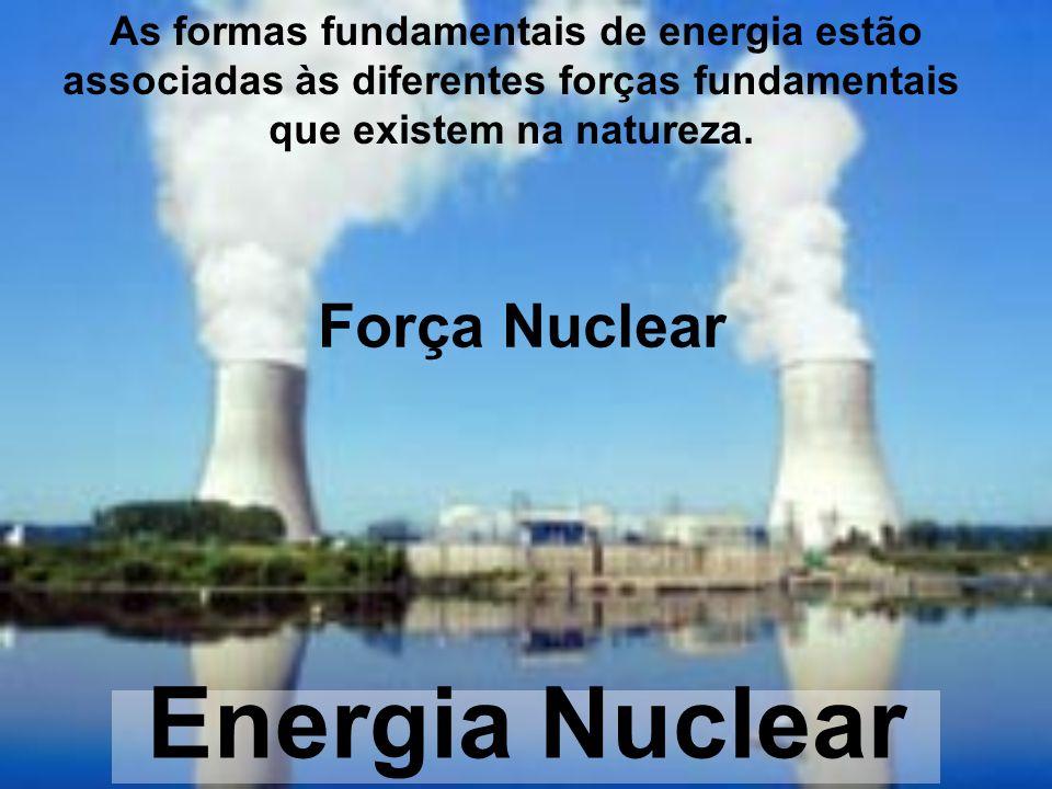 Força Nuclear Energia Nuclear As formas fundamentais de energia estão associadas às diferentes forças fundamentais que existem na natureza.