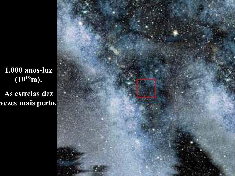 1.000 anos-luz (10 19 m). As estrelas dez vezes mais perto.