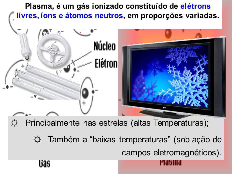 Principalmente nas estrelas (altas Temperaturas); Também a baixas temperaturas (sob ação de campos eletromagnéticos).