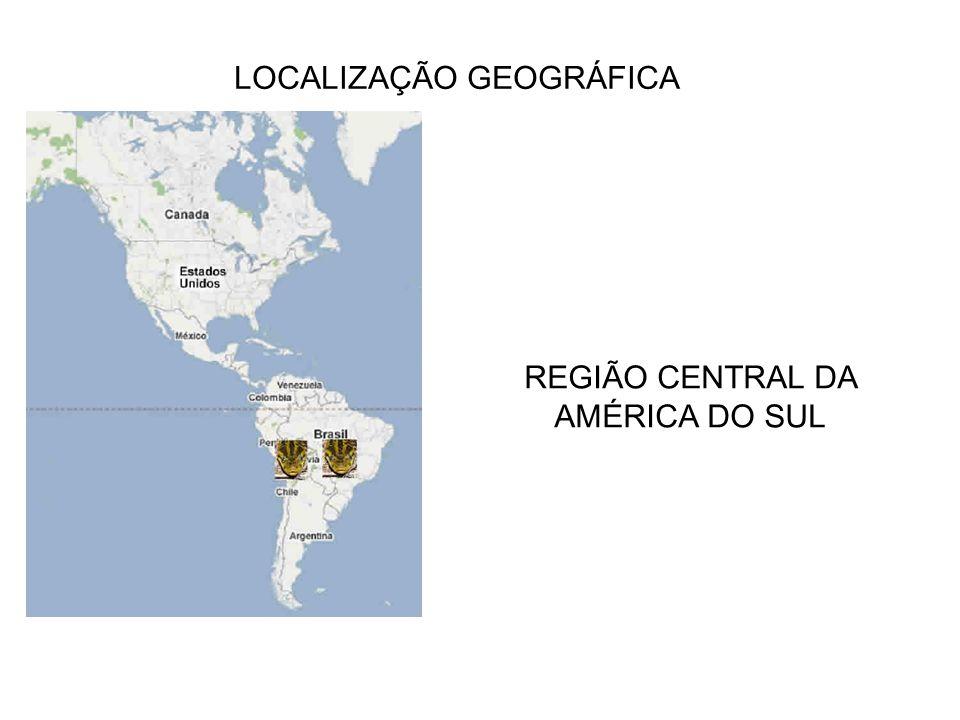 LOCALIZAÇÃO GEOGRÁFICA REGIÃO CENTRAL DA AMÉRICA DO SUL