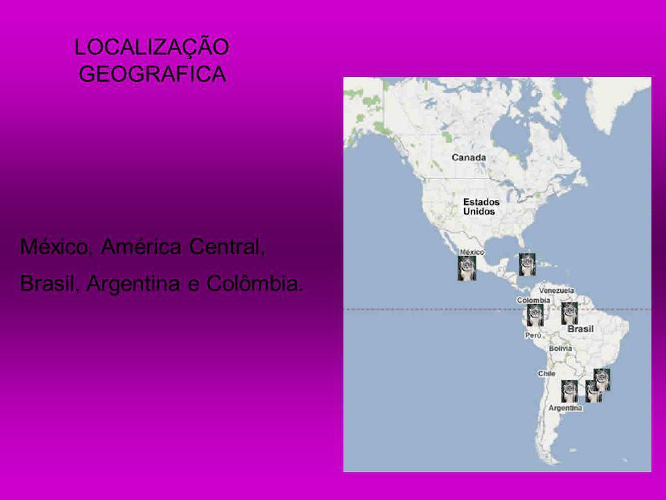 México, América Central, Brasil, Argentina e Colômbia. LOCALIZAÇÃO GEOGRAFICA