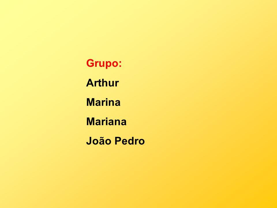 Grupo: Arthur Marina Mariana João Pedro