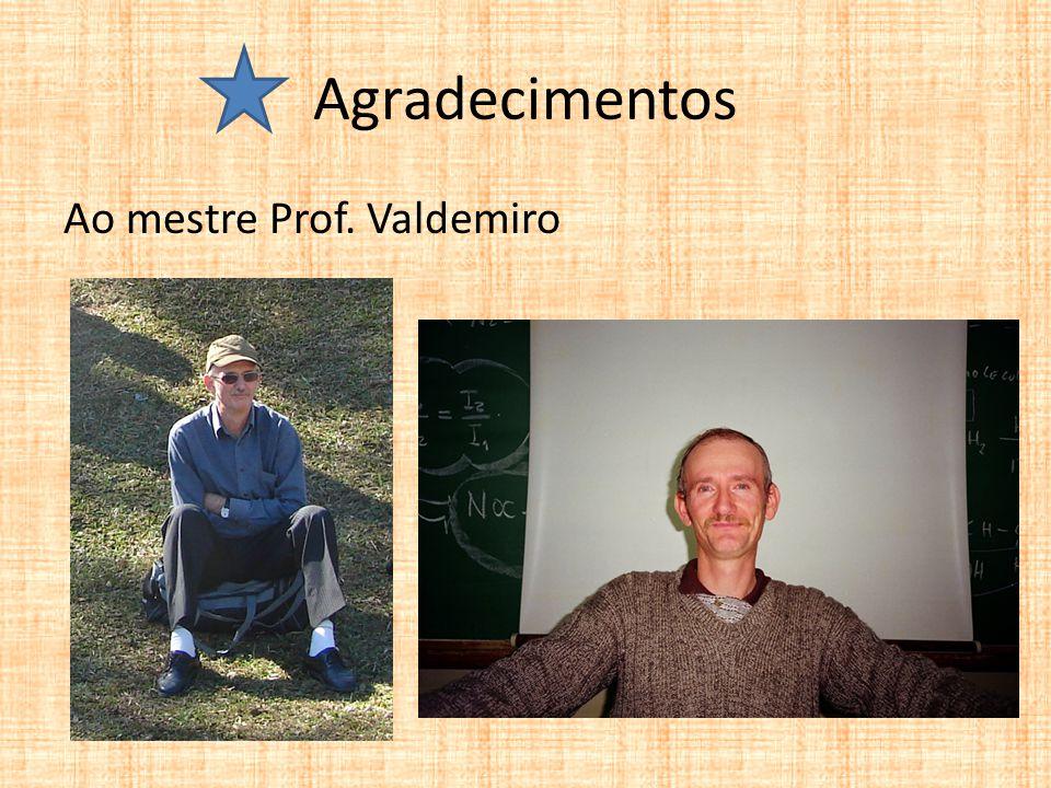 Agradecimentos Ao mestre Prof. Valdemiro