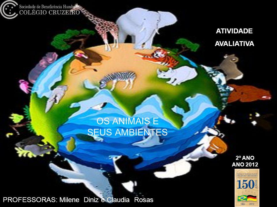 OS ANIMAIS E SEUS AMBIENTES 2º ANO ANO 2012 ATIVIDADE AVALIATIVA PROFESSORAS: Milene Diniz e Claudia Rosas