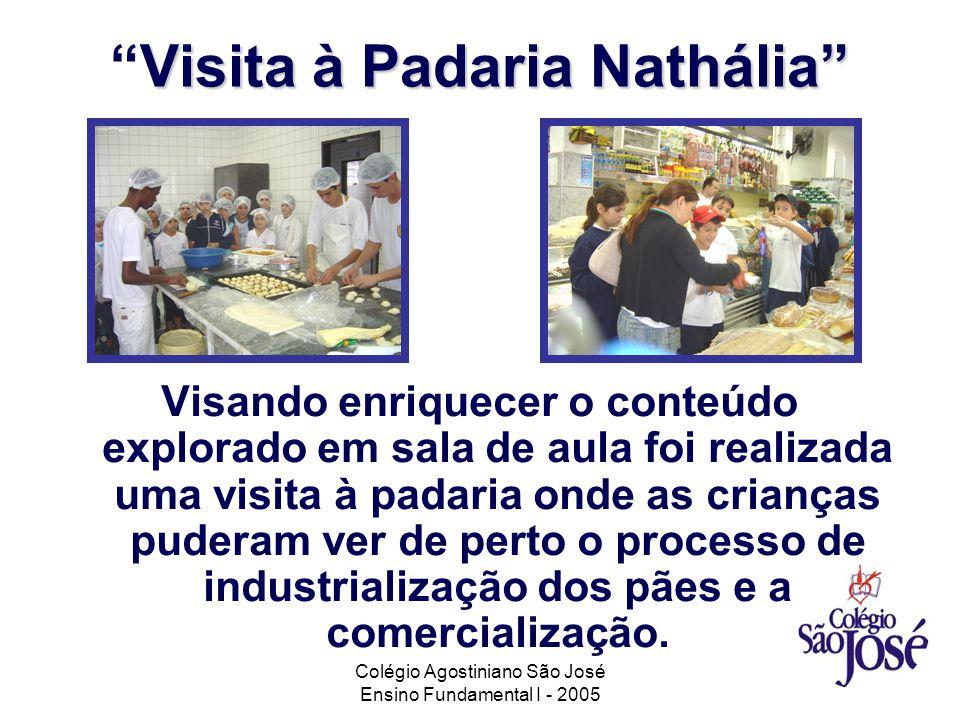 Colégio Agostiniano São José Ensino Fundamental I - 2005 Visita à Padaria NatháliaVisita à Padaria Nathália Visando enriquecer o conteúdo explorado em