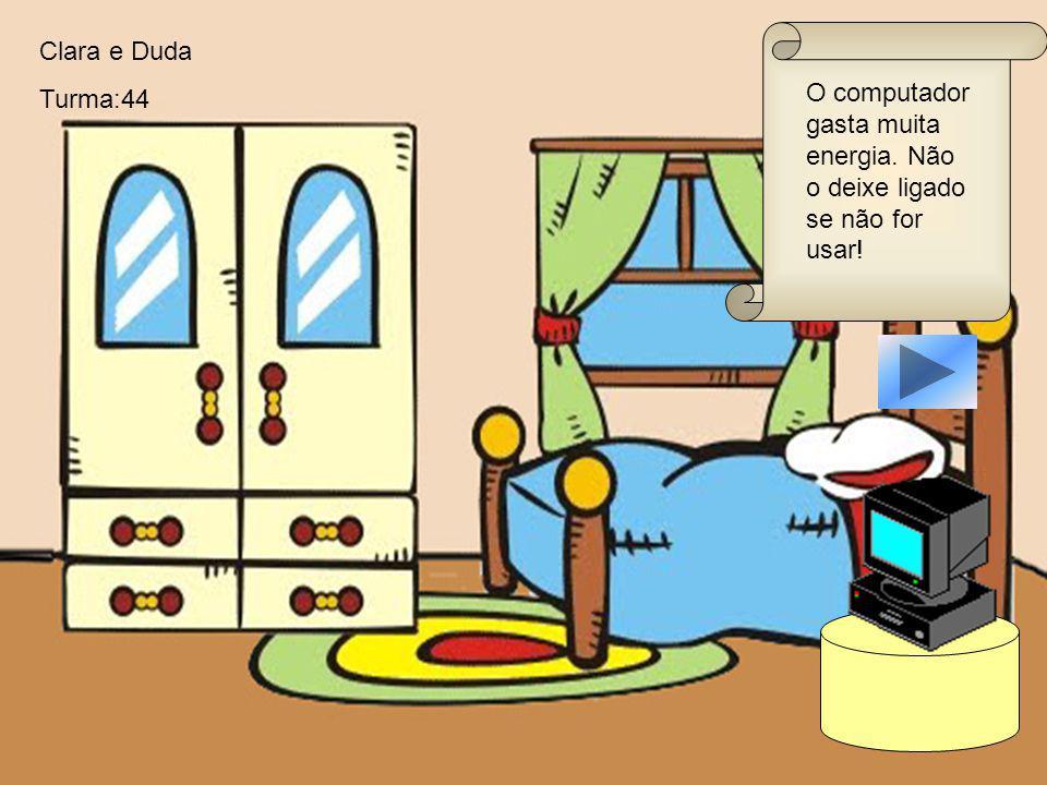 Feche a geladeira para economizar energia. Eduardo e Maria Emilia