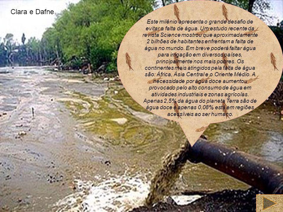 K Este milênio apresenta o grande desafio de evitar a falta de água. Um estudo recente da revista Science mostrou que aproximadamente 2 bilhões de hab