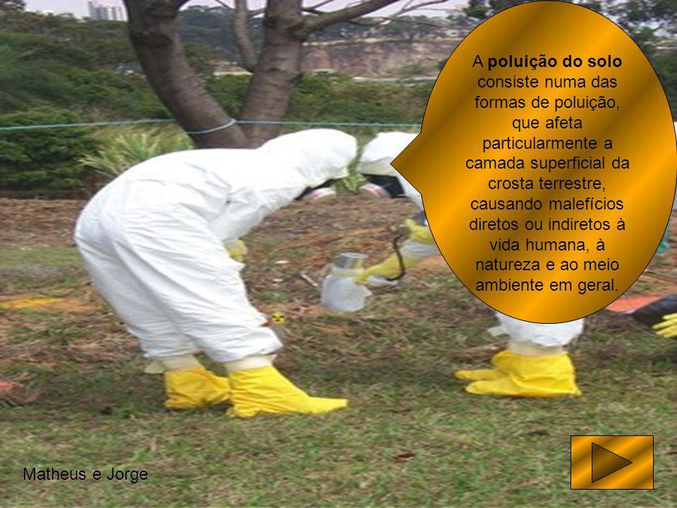 A poluição do solo consiste numa das formas de poluição, que afeta particularmente a camada superficial da crosta terrestre, causando malefícios diret