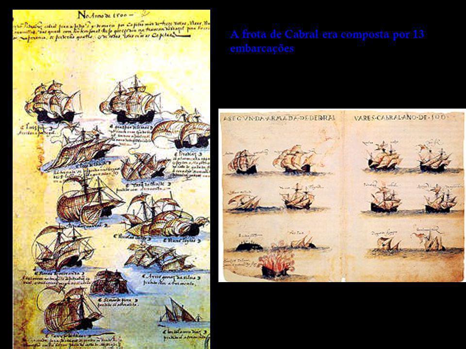 A frota de Cabral era composta por 13 embarcações