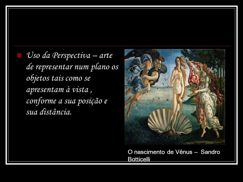 Uso da Perspectiva – arte de representar num plano os objetos tais como se apresentam à vista, conforme a sua posição e sua distância. O nascimento de