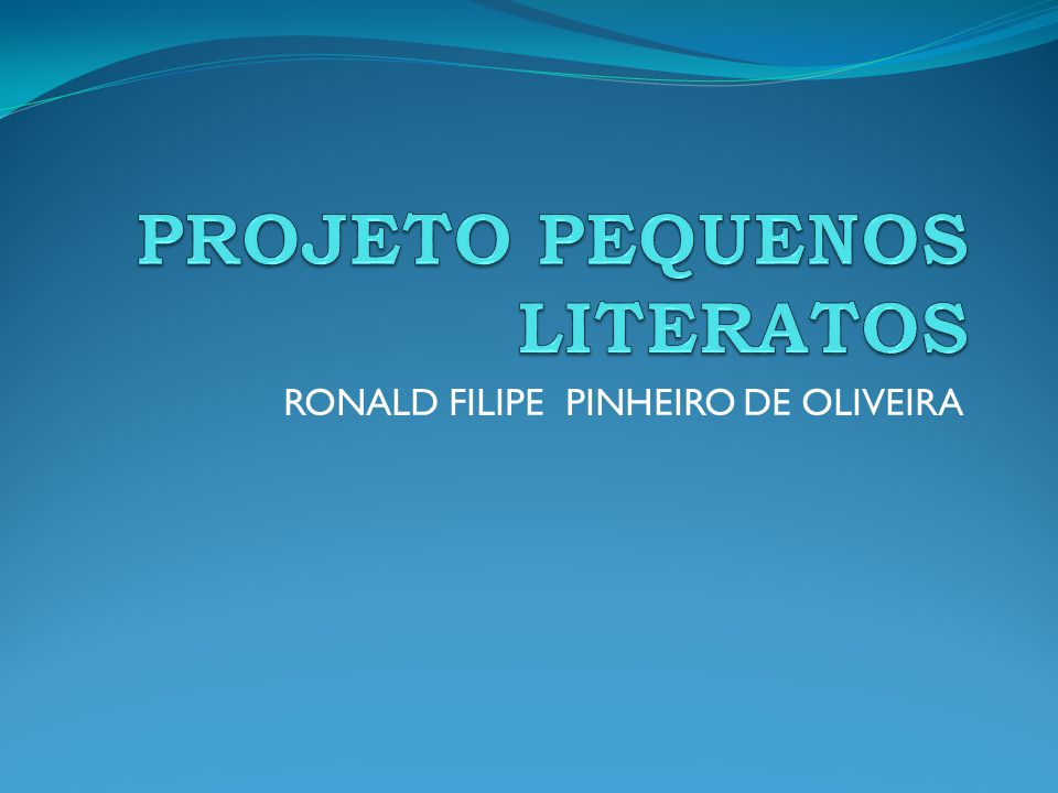 RONALD FILIPE PINHEIRO DE OLIVEIRA