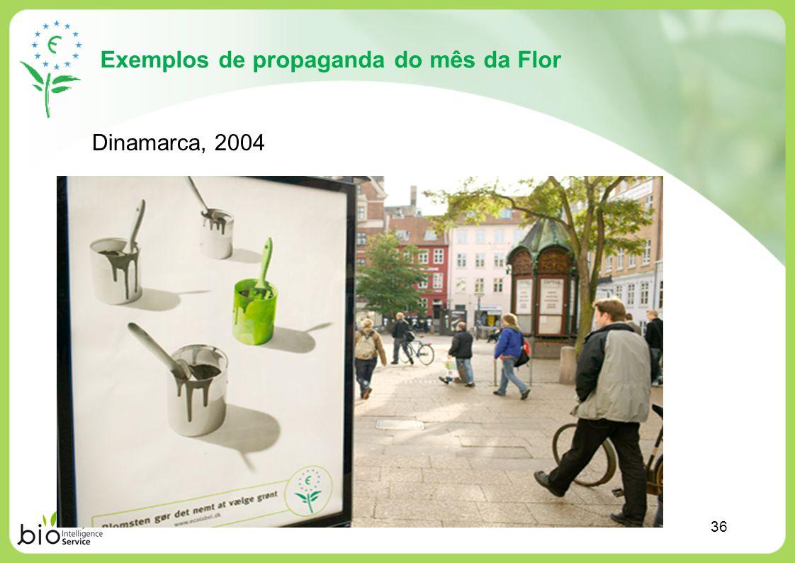 Exemplos de propaganda do mês da Flor Dinamarca, 2004 36