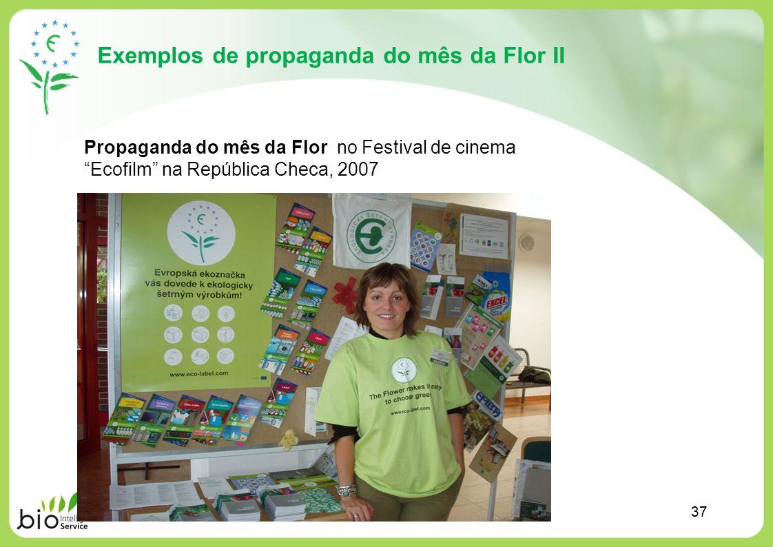 Exemplos de propaganda do mês da Flor II Propaganda do mês da Flor no Festival de cinema Ecofilm na República Checa, 2007 37