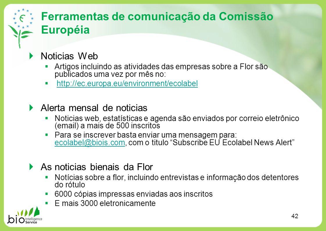 Ferramentas de comunicação da Comissão Européia Noticias Web Artigos incluindo as atividades das empresas sobre a Flor são publicados uma vez por mês